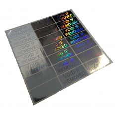 Holographic Adhesive anti-tampering labels - 70 pieces