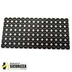 Sellos adhesivos negros anti manipulación con precinto de