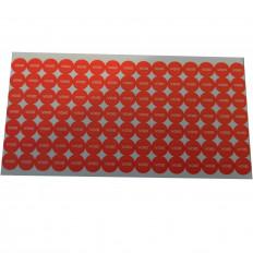 Sellos adhesivos naranja anti manipulación con precinto de