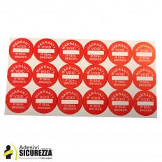 Sellos adhesivos anti manipulación con precinto de seguridad –