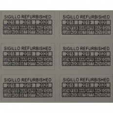 Adhesive anti-tampering REFURBISHED labels - 42 pieces Shop