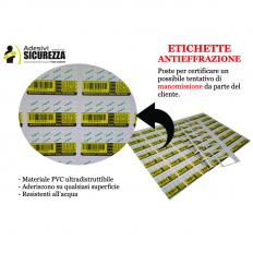 100 etichette adesive sigillo di garanzia con ID seriale, mese ed anno