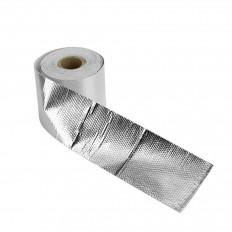 Nastro scudo termico protezione ignifugo calore oro/argento in fibra di vetro 50mm x 5M