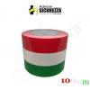 Fascia adesiva tricolore bandiera Italia in 4 misure a scelta