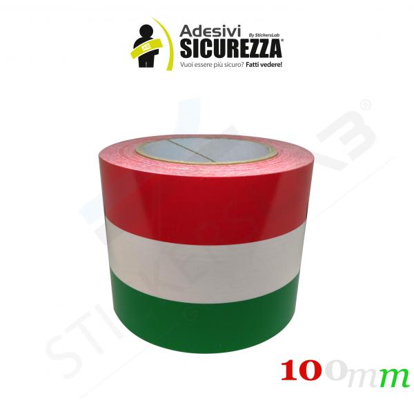 Adesivo BANDIERA ITALIANA cm 50x30 adesivi bandiera italiana tricolore ITALIA
