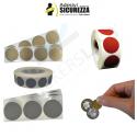 Bollini Scratch off modello gratta e vinci adesivi a cerchio in vari colori
