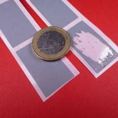 Autocolantes prateados para raspadinha em PVC em varios