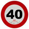 Coppia disco limite velocità adesivo retroiriflettente omologati