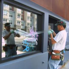Pellicola trasparente antigraffiti protettiva marca 3M permanente