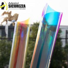 Pellicola Dichroic adesiva arcobaleno per vetrate che cambia colore