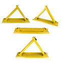"""Triangle"" barrier anti parking parking bollard folding car with lock and keys"