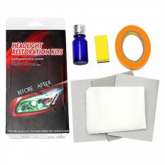 Kit de réparation de crêpe de verre pour phares et feux arrière en 3 couleurs