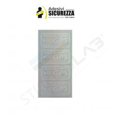 ADESIVO STICKER ANTIFURTO SATELLITARE GPS NERO 4 PEZZI PER SUBARU SUZUKI VOLVO