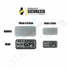 Aufkleber Satelliten-Alarm GPS Auto-Alarmanlage Motorrad