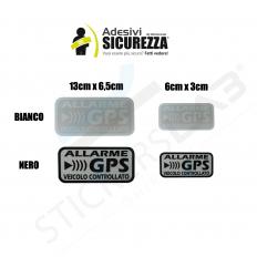 Pegatinas de advertencia GPS y antirrobo para coche, camión
