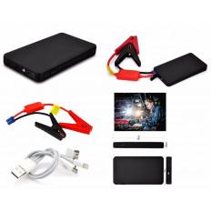 Avviatore di emergenza Auto Batteria Booster Starter Power Bank Portatile Nero