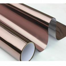 Pellicola effetto specchiato per finestre e vetrate colore argento/bronzo