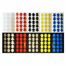 Frecce adesive realizzate con materiale rifrangente scotchlite 3M™