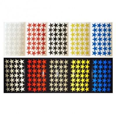 Estrelas autocolantes refletivas realizadas com material 3M™