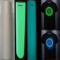 Pellicola termosaldabile transfer (con ferro da stiro) fosforescente si illumina al buio blue / verde 50cm