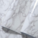 Self-adhesive vinyl film with a gray marble effect