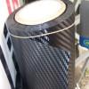 Película adesiva de fibra de carbono 4D embrulhado olhar de carbono sem bolhas de medidas diferentes Termomodelação