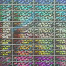 70 Haftetiketten Sicherheits- und Sicherheitshologramm-Siegel mit Aufschriften