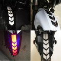 Chevron stickers made with reflective material for motorcycle fender