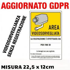 Placa de plástico de Zona de Videovigilancia - 2 piezas venta
