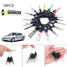 18 Pz/set Strumenti di rimozione terminale Cavo elettrico per auto Cablaggio