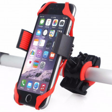 Elastic silicone cell phone holder for bicycle / motorcycle