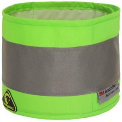 Fascia alta visibilità in polistere con banda rifrangente riflettente 3M in 3 colori