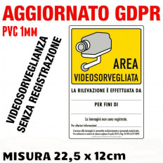 Video Surveillance Warning Sign - 2 pieces (15 x 22,5 cm)