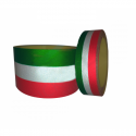 Reflective Italian flag vinyl adhesive band for car and motorbike - 25/50mm