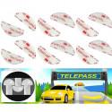 Dual lock SJ 3560 3M™ velcro adesivo singoli sagomati per Telepass parabrezza auto