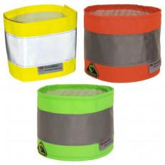 Fascia alta visibilità in polistere con banda rifrangente riflettente 3M™in 3 colori