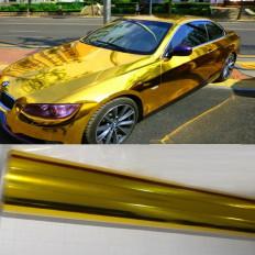 Хромированный золото хром зеркало автомобиля стикер упаковочная пленка Авто мото хром без пузырей