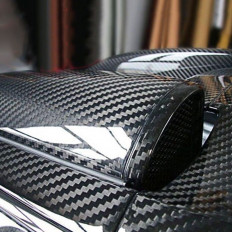 5D High Gloss Black Carbon Fiber Car Wrap decorative film