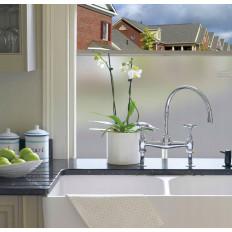 Lámina blanca opacificante de ventana para protección solar