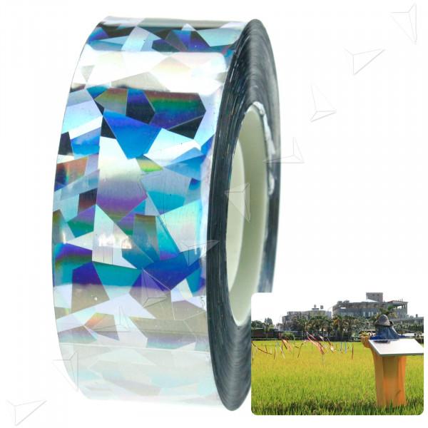 Nastro adesivo olografico riflettente per spaventare olografico arcobaleno colorato mascheratura nastro adesivo impermeabile iridescente per fai da te