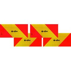 ECE 70.01 Pannelli rifrangenti per motrice kit da 4 pezzi in classe 3 alluminio
