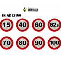 3M retro-reflective adhesive limit speed limit mark, homologated in class 2