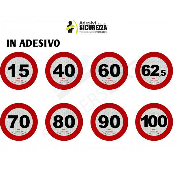 DISCO ADESIVO LIMITE DI VELOCITA 40 KM RETRORIFLETTENTE