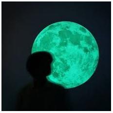 Lua cheia autocolante fotoluminescente que brilha no escuro -