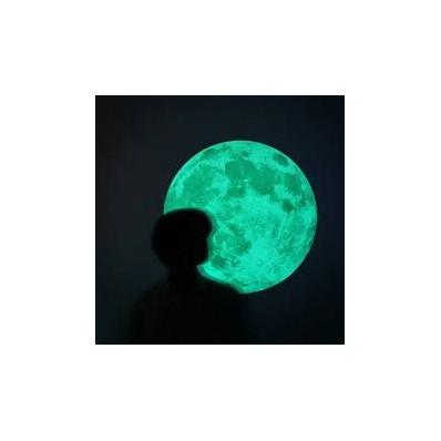 Glow in the dark luminous and phosphorescent moon - 30 cm Shop