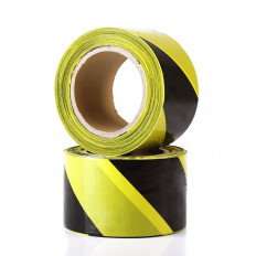 White/Red warning safety tape - 200m x 70mm