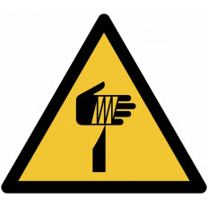 "ISO 7010 General Warning Sign for ""Crush injury risk"" W024"
