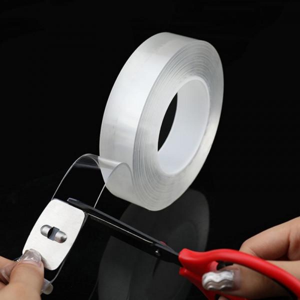 Nano Nastro Biadesivo Trasparente 30mm Multifunzione Riutilizzabile Nastro Biadesivo Senza Tracce 3M