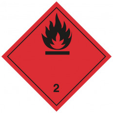 """Etiquette autocollante ou support en aluminium ADR classe 3 """"Liquides inflammables"""" 300x300mm"""