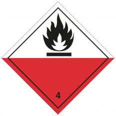 "Self-adhesive label or aluminum support ADR class 3 ""Flammable Liquids"" 300x300mm"